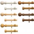 トーソー  カーテンレール ローレット木目25 シングル・オーダーサイズセット